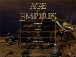 Age of empires - Menu