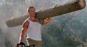 Arnold en su mítica Commando
